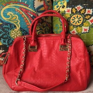 Olivia and joy red/orange handbag